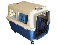 Animal Transport Carrier - Large with Wheels plastic airline approved