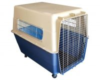 Animal Transport Carrier - X large Wheels plastic airline approved