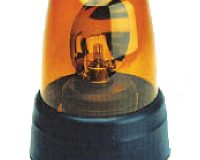 Britax Beacon - 390 Series, Rotator, 3 Bolt Rubber Base, Amber