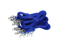 Economy Clip Lead Bulk 25 pack - 15mm nylon, 120cm, random colours