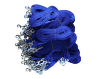 Economy Clip Lead Bulk 100 pack - 15mm nylon, 120cm, random colours