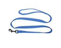 Clip Lead - 20mm cotton webbing, 120cm, blue