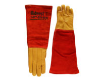 Animal Handling Glove Long - Leather, Kevlar Medium Durable Quality Bite Protection