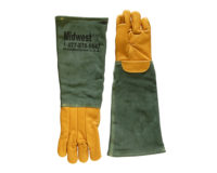 Animal Handling Glove Long - Leather, Kevlar Large Durable Quality Bite Protection