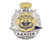 Badge Metal – WA Ranger, Ranger, Suitable for Cap/Hat & ID Wallet