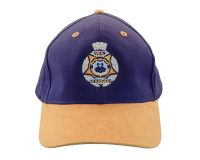 Cap Embroidered - WA Ranger, Blue with Brown Suede Peak