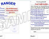 ID Card - WA Ranger, as per Legislative Requirements, Laminated