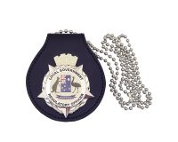 Badge Holder - Leather with Regulatory Officer Metal Badge