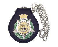 Badge Holder - Leather with WA Senior Ranger Metal Badge