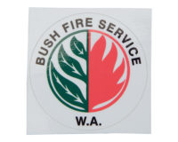 Bush Fire Service WA Helmet Sticker - 46mm
