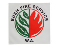 Bush Fire Service WA Vehicle/Equipment Sticker - 250mm