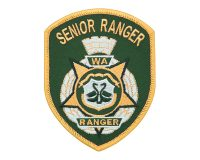 Cloth Patch – WA Ranger, Senior Ranger, Dark Green