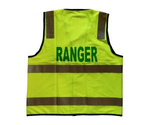Safety Vest - Fluoro Yellow, Ranger (Green) front & back