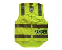 Safety Vest - Fluoro Yellow, Ranger (Blue) front & back