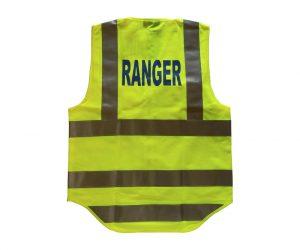 Safety Vest - Fluoro Yellow, Ranger (Blue) front & back